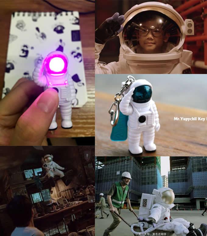 Astronaut key chain Light