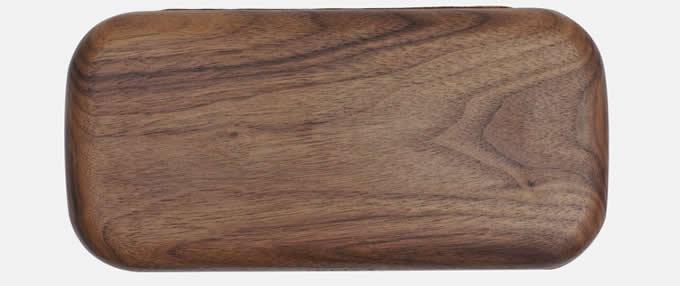 Black Walnut Wooden Coin Purse Wallet Credit Card Holder