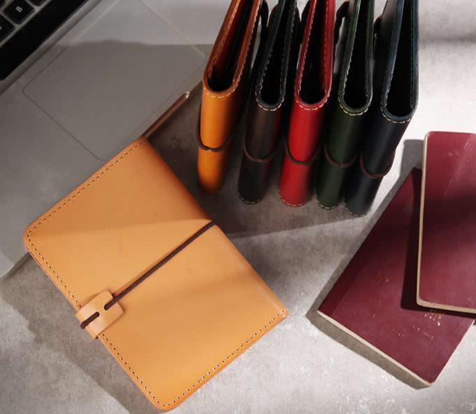 Genuine Leather RFID Blocking Passport Holder Travel Bifold Wallet