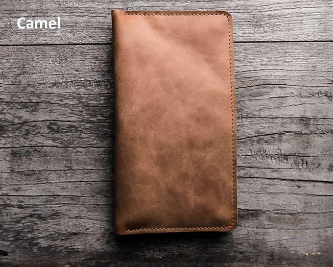 Genuine Leather Travel Wallet &  Documents Organizer Zipper Case