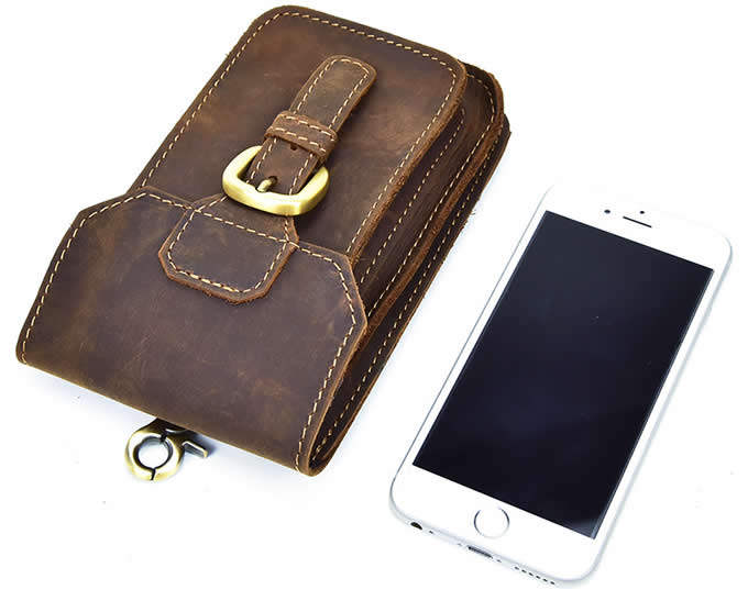 Genuine  Leather Vertical / Horizontal Case Cover With Belt Clip Holster