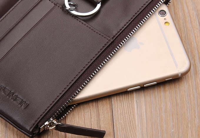 Genuine Leather Wallet Credit Card Holder Car  Key Keychain Holder Cover