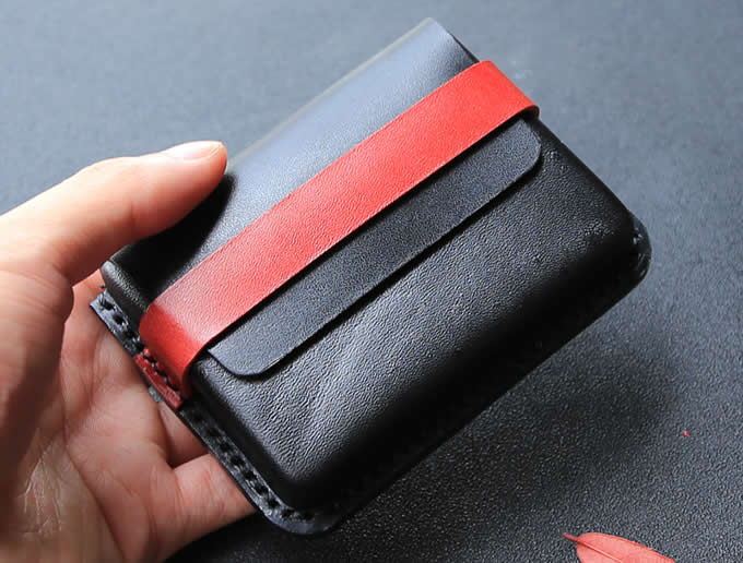 Handmade Genuine Leather Business Name Card Credit Card ID Holder Case Wallet