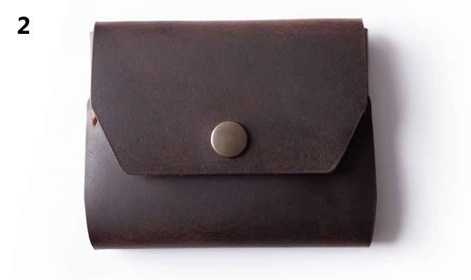 handmade Genuine  Leather Credit Card Holder