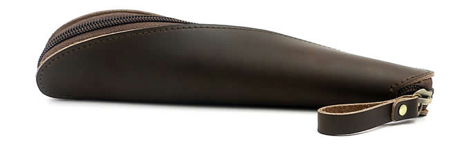 Handmade Genuine Leather Storage Bag Pen Pencil Pouch Case