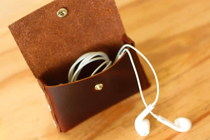 Handmade Leather Coin Purse Wallet Credit Card Holder Business Card Holder