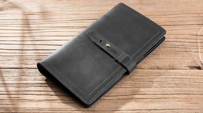 Handmade Genuine Leather Travel Credit Card Holder Wallet & Documents Organizer