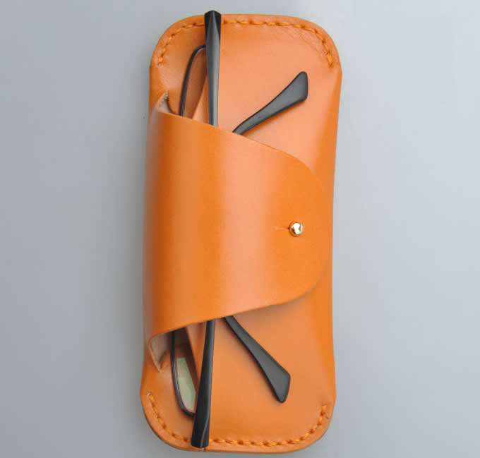 Handmade Leather Eyeglass Case Sunglass Holdert