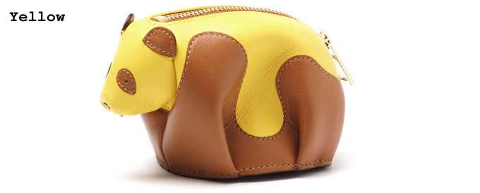 94c4f4f544a49 Handmade Leather Panda Shaped Coin Purse - FeelGift