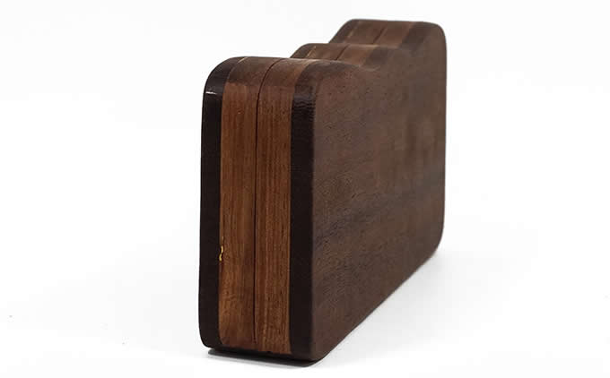 Handmade Wooden Portable-Handle Bag Business Name Card Holder Wallet Credit card ID Case / Holder