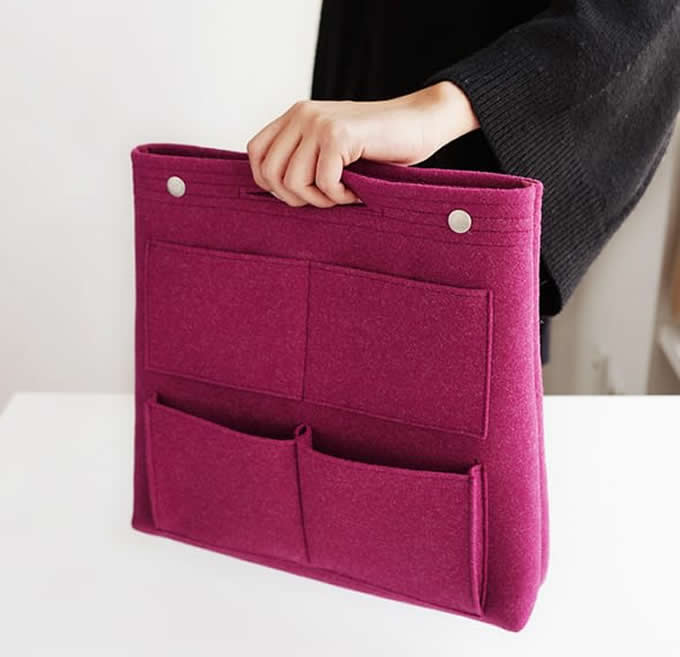 Long Felt Purse Organizer