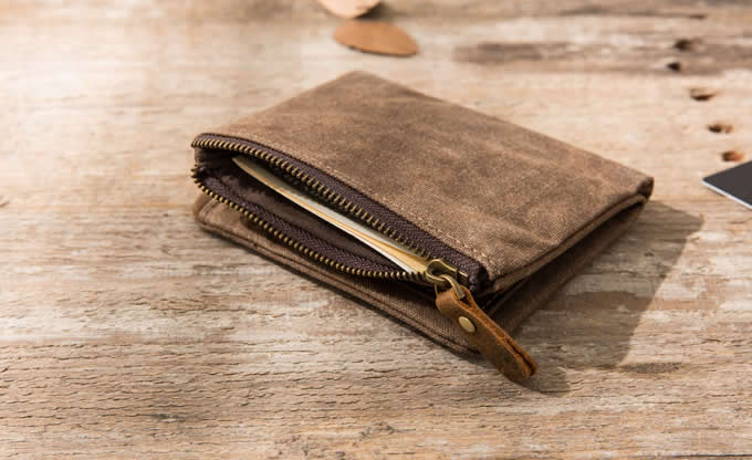 Men's Canvas & Leather Billfold Wallet