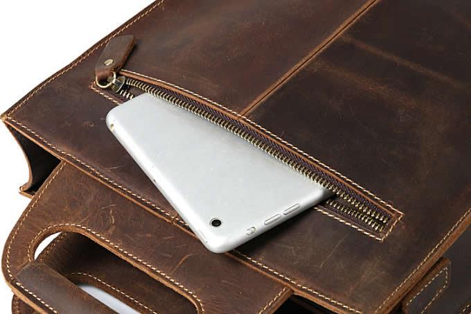 Men's Genuine Leather Shoulder Bag Messenger Bag Handbag CrossBody  Briefcase