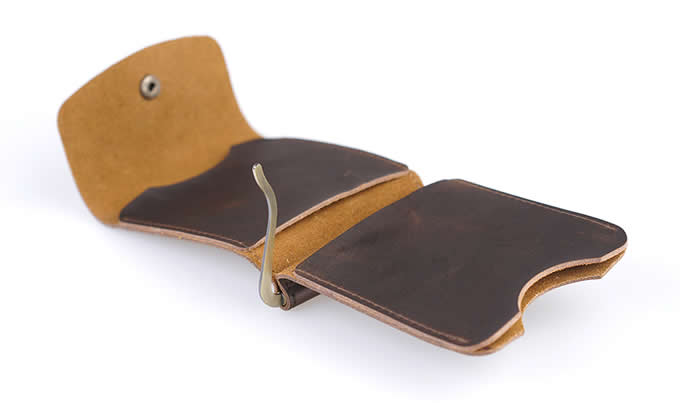 Minimalist Front Pocket Leather Wallet Money Clip