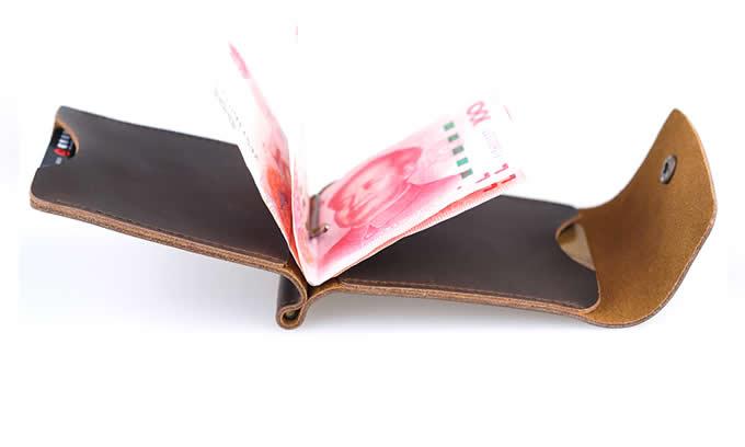 Minimalist Front Pocket Leather Wallet Money Clip