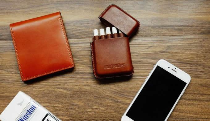 handmade Genuine Leather Cigarette Case
