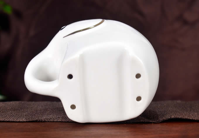 Ceramic Bamboo Elephant  Toothbrush and Toothpaste Holder