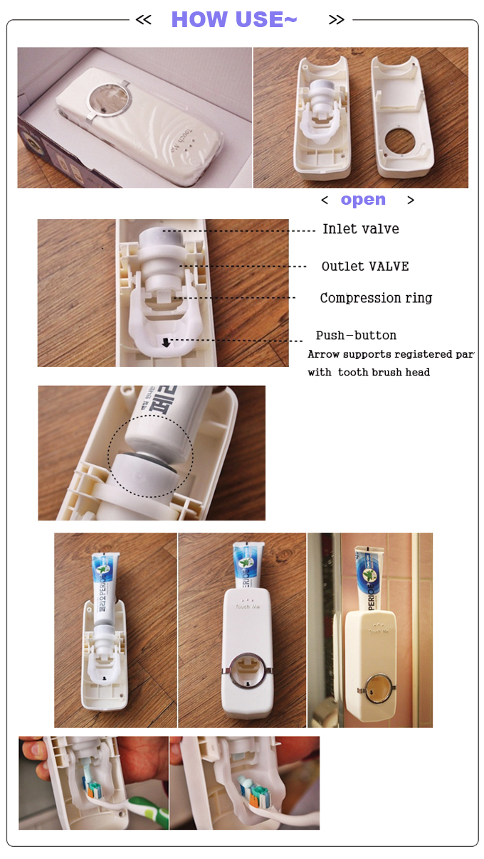 Automatic Toothpaste Dispenser-cool stuff