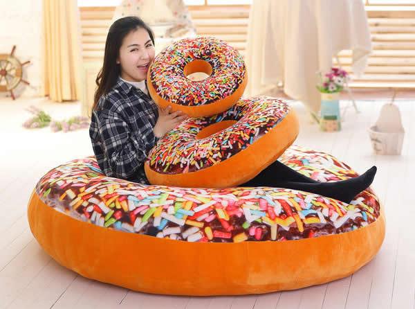 3D Doughnut  Pillow Cushion
