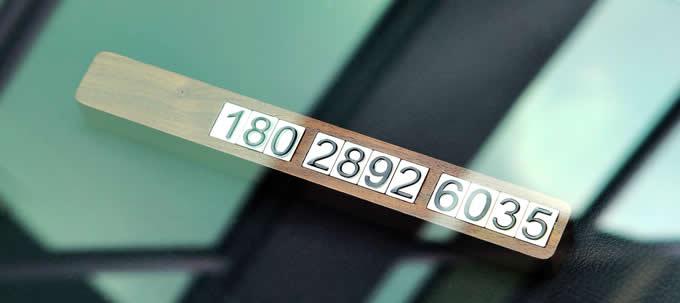 Black Walnut Wood Car Phone Number Card Plate Temporary Parking Card