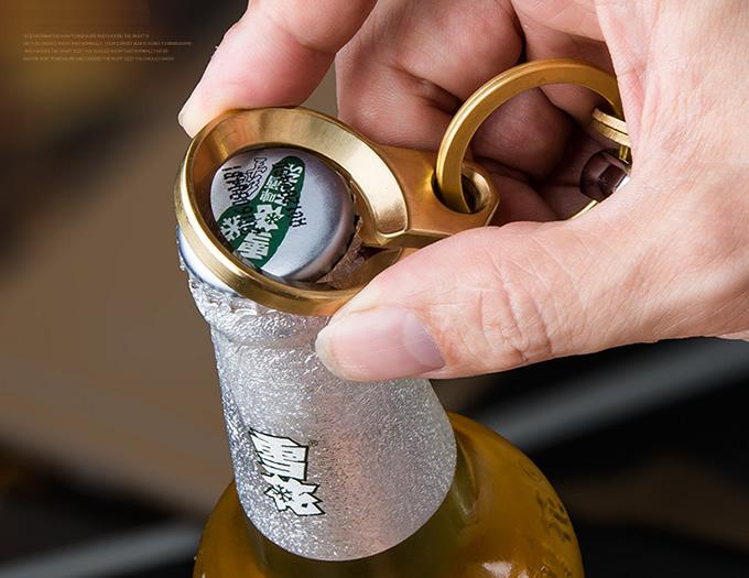 Brass Mens Keychain Keyring