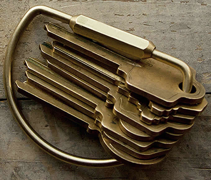 Brass  Retro Key Ring Buckle