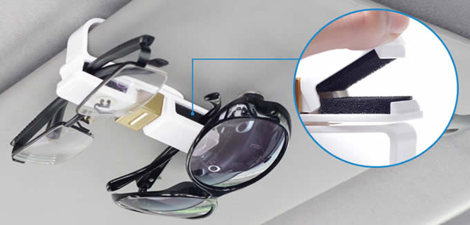 360-Degree Rotation Car Visor Eye Glasses Sunglasses Clip