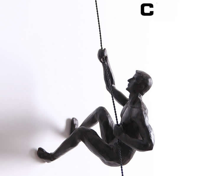 Climbing Man Wall Sculpture