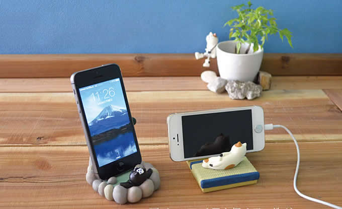 Cute cat spa desk business card holder cell phone holder feelgift cute cat spa desk business card holder cell phone holder reheart Images