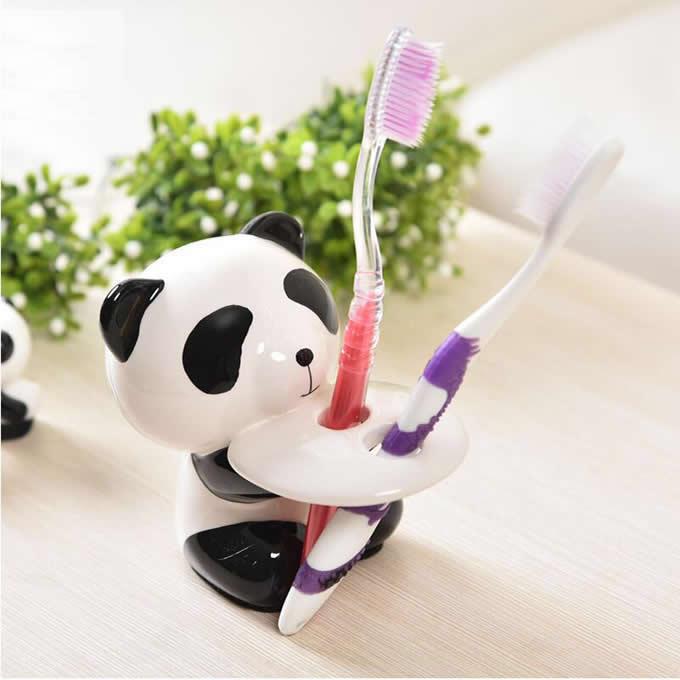 Cute Ceramic Panda Toothbrush Holder
