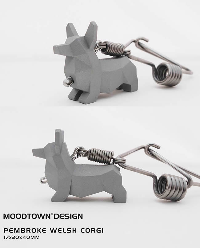Dog Stainless steel key chain