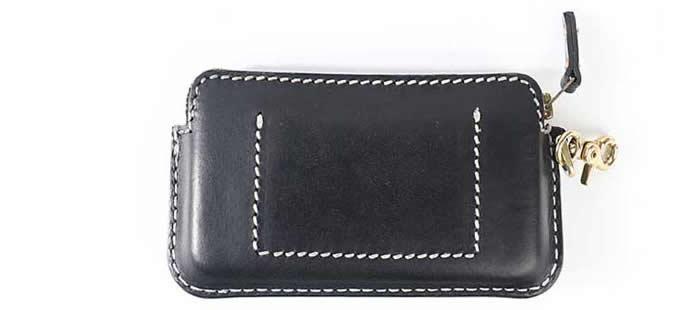 Genuine Leather Zipper Clutch Wallet  Credit Card Phone Holder Hand Purse