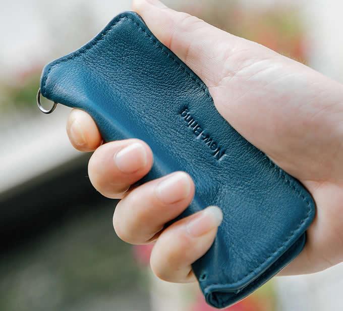 Handmade Genuine Leather Minimalist  Key Case Cover Holder