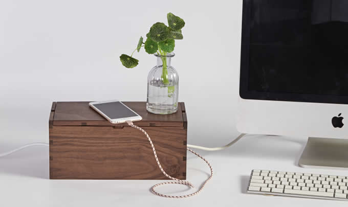Handmade Wooden Cord - Cable Management Box