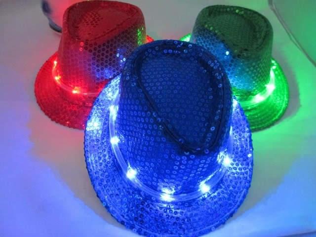 LED Lighted Glow Fedora Hat