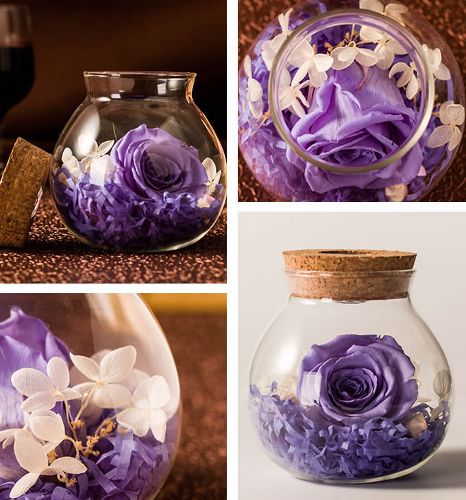 Never Withered Roses Led jar