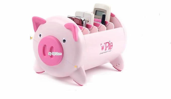 Pig Remote Control Organizer Caddy