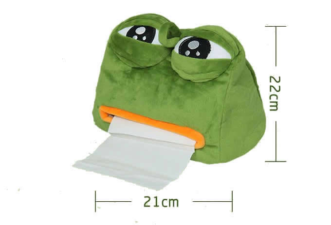 Plush depressed Tissue Box Holder