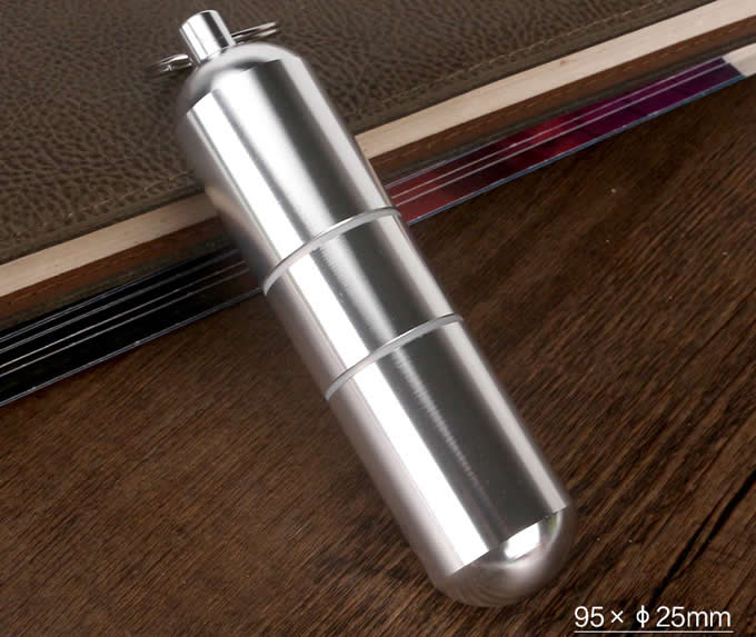 Portable Cylinder Shaped Waterproof Cgarette Case
