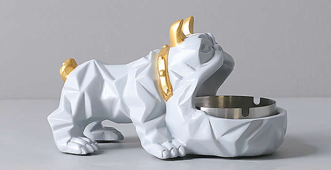 Resin Dog Ashtray Home Ornaments