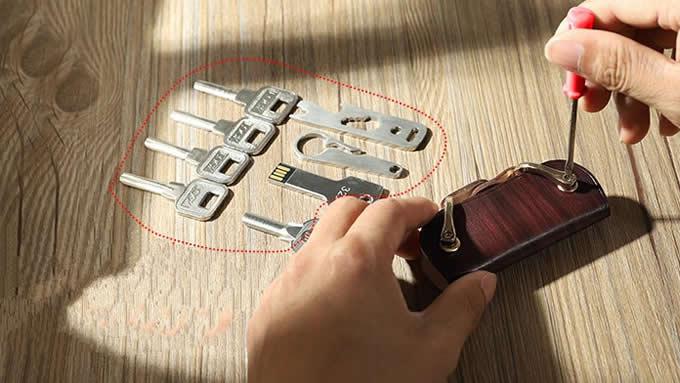Vintage Hanmade Leather Key Organizer Key Holder  key case