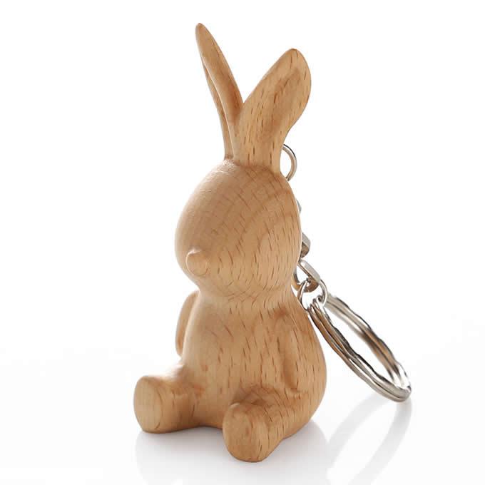 Wood Animal Keyring Keychain