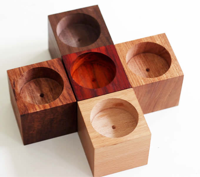 Wooden Candle Holder Set Of 5 Feelgift