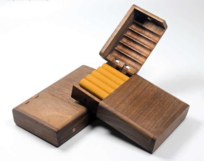 Wooden Cigarette Case, Rosewood