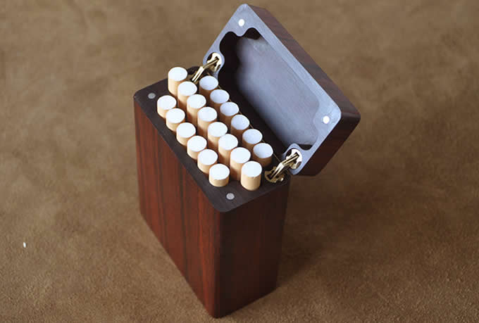 Wooden Cigarette Case Holder Cigarette Box