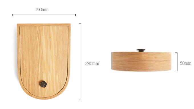 Wooden  Jewelry Cosmetics Desk Storage Display Organizer Box Case with Mirror