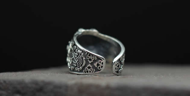 Creative Ancient Greek Animal Sterling Silver Ring