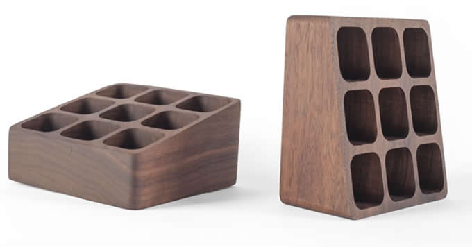 Black Walnut  Wooden Desktop Cosmetic Storage Box Dressing Table Lipstick Protection Skin Product Storage Rack