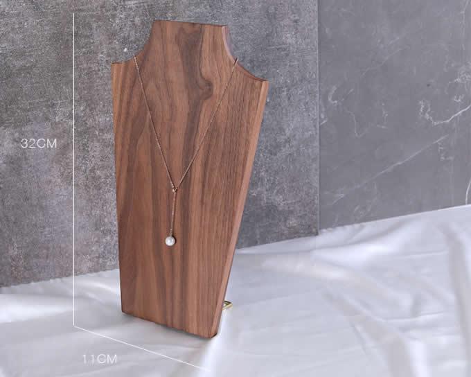Black walnut Wood Bust  Bonus Necklace Jewelry Bust Display Organizer Stand