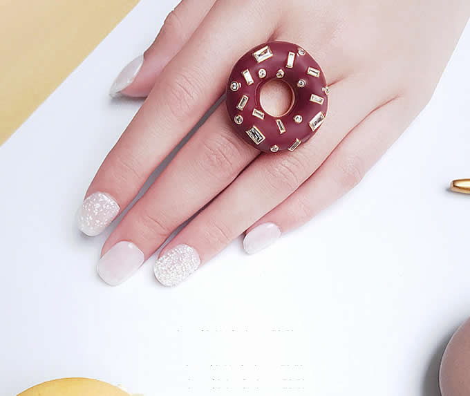 Donut Shaped Ring,Brown